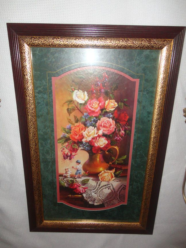 Home Interiors '' Mixed Roses '' Picture & Sconces Gorgeous 7pc | eBay