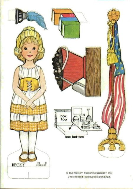 The Gingham Paper Doll Becky (Becky's Schoolroom)