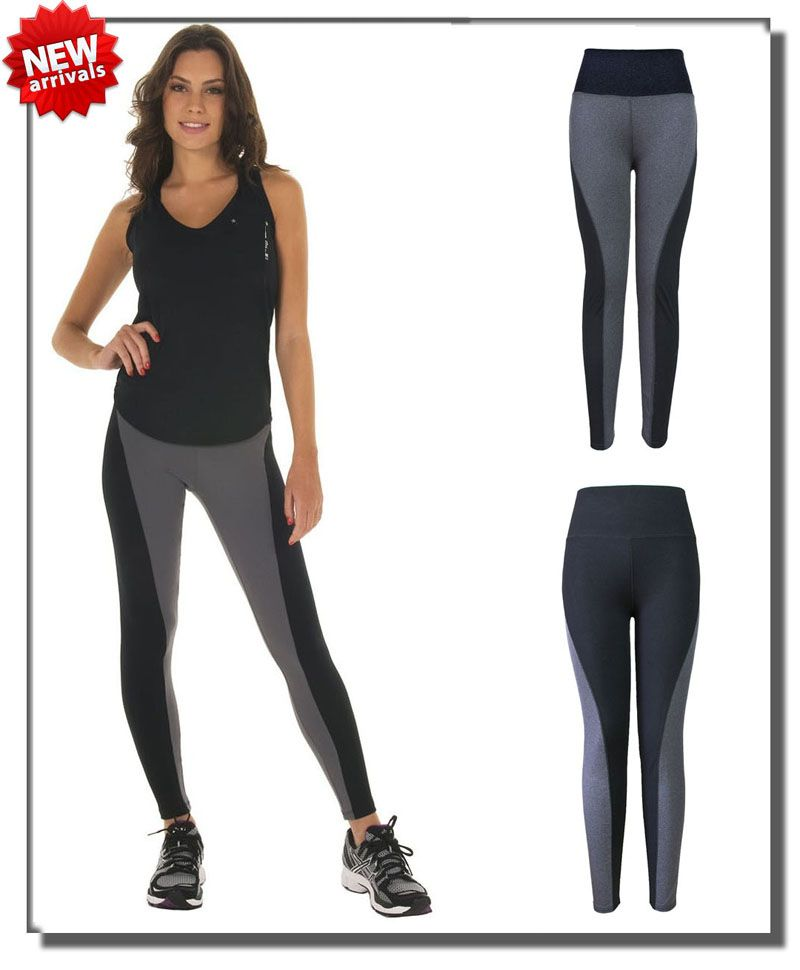c08f241733138 ... men directly from China pants linen Suppliers: Fashion Patchwork Sport Pants  High Waist Black Gray Stretched Women Gym Fitness Yoga Running Workout Wear  ...