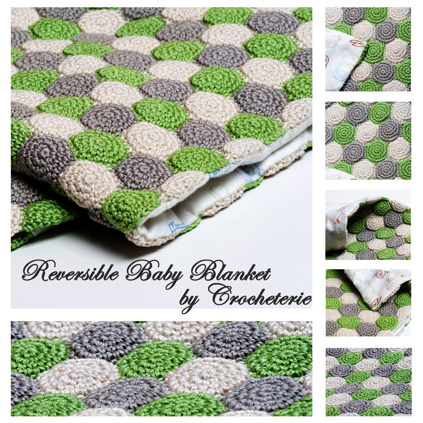 Crocheterie: Unisex Reversible Baby Blanket | Crochet | Pinterest ...