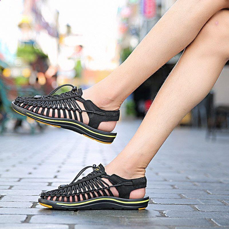 Sandal Musim Panas Baru Pria Fashion Sandal Pantai Mahasiswa Sepatu Kasual Bernapas Datar Round Toe Elastisitas Sepatu Nelayan B Sandal Musim Panas Sepatu Kasual Kasual