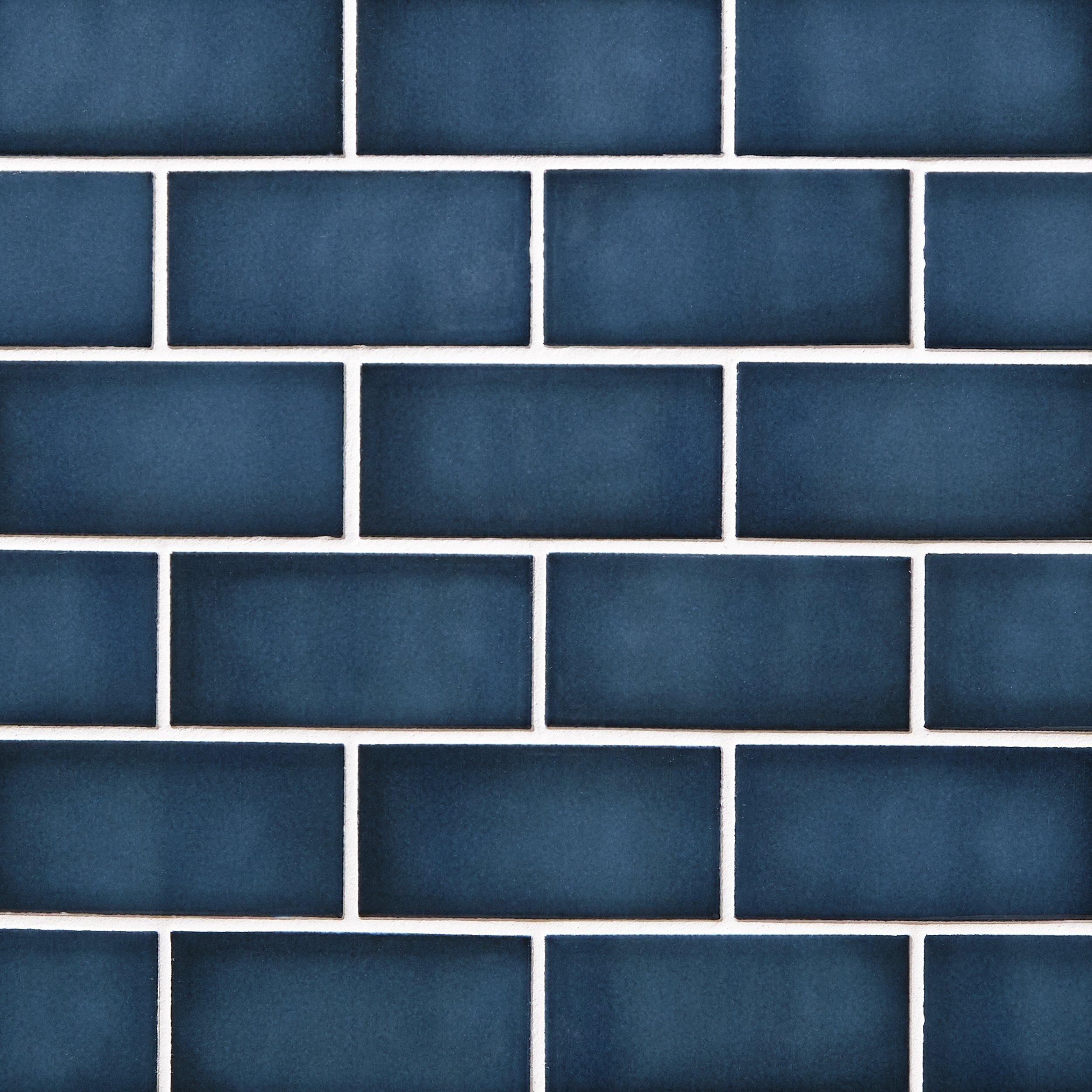 La Belle Antique Blue Polished Ceramic Mosaic In 2020 Blue Kitchen Tiles Blue Subway Tile Blue Glass Tile