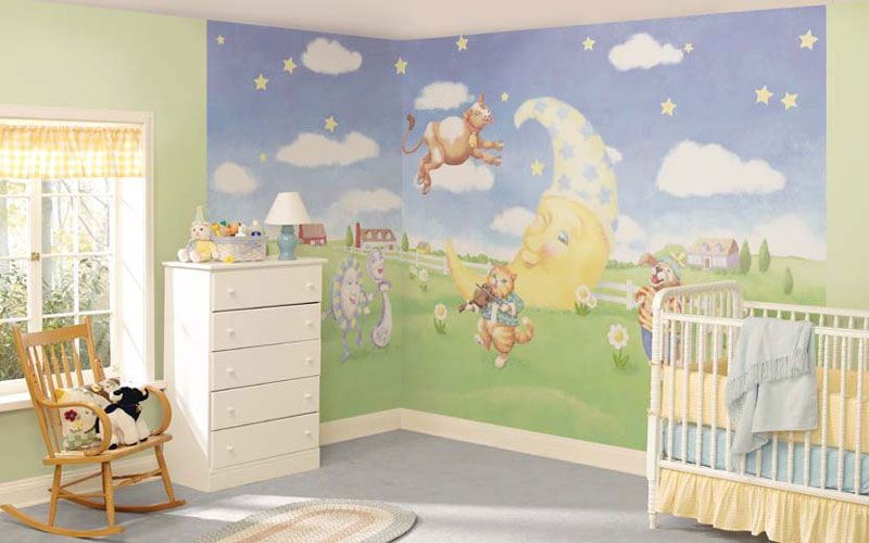 Captivating Babyu0027s Room Nursery Peel And Stick Wall Murals Part 17