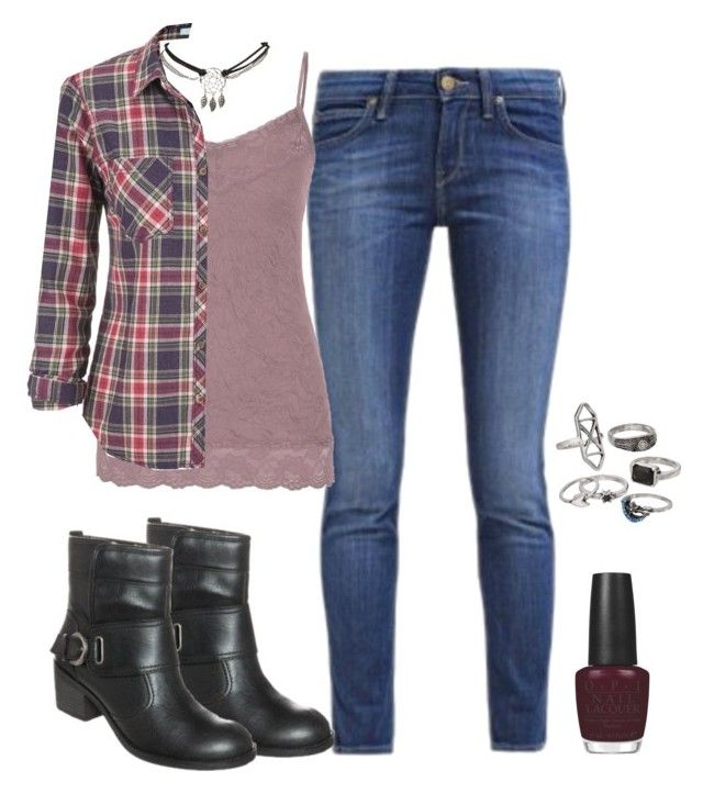"""""""just so you know"""" by deliag ❤ liked on Polyvore featuring moda, maurices, Wet Seal, OPI e Mudd"""