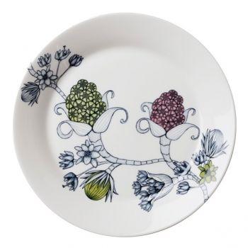 Runo lautanen 26 cm, Kevätkello        Valmistaja: Arabia      Design: Heini Riitahuhta