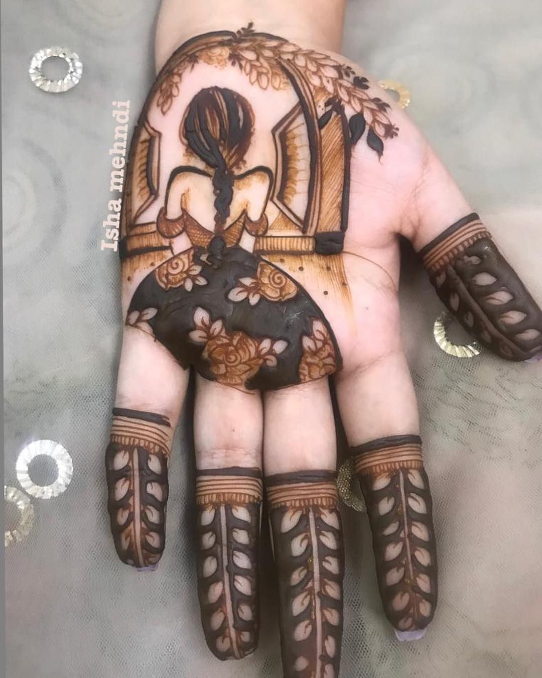 Look at these beautiful intricate mehendi designs from heena byisha aren   they also lata gadakh gadakhlata on pinterest rh
