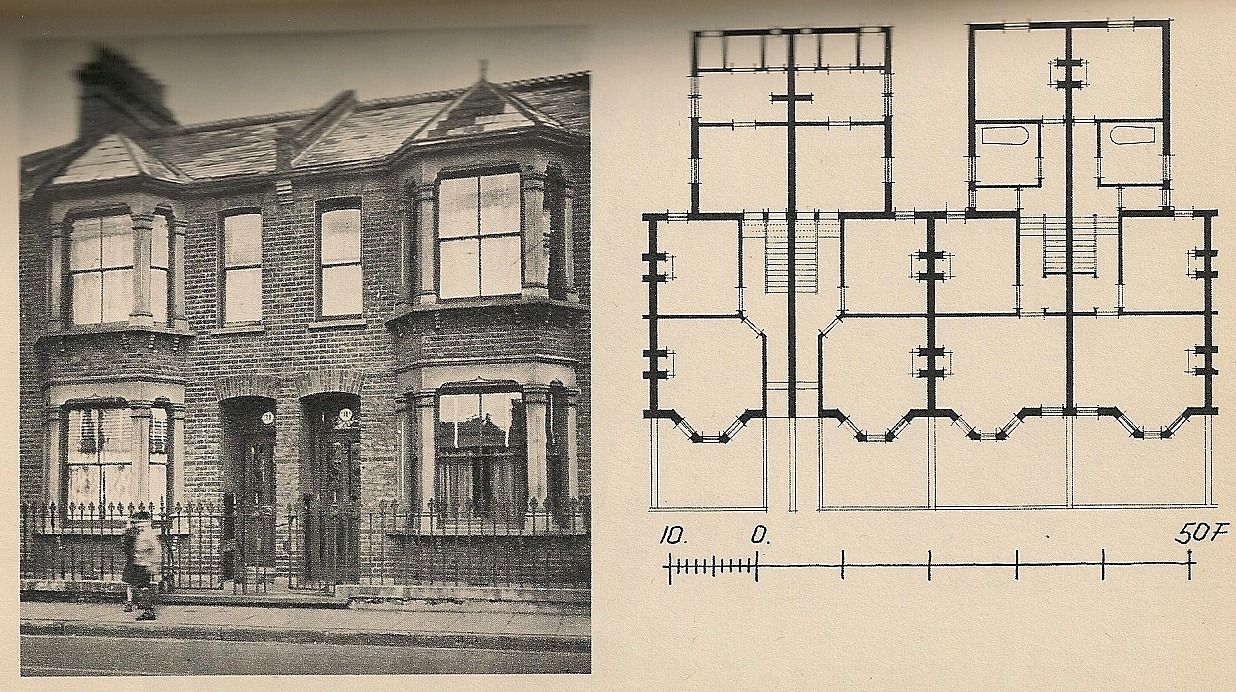 A vintage 4plex plan borderline properties pinterest for Old school house plans