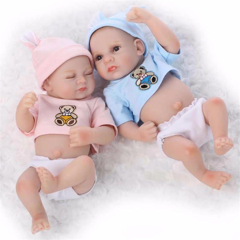 """11/"""" Cute Silicone Handmade Lifelike Reborn Baby Doll Newborn Boy Baby Gift Toy"""