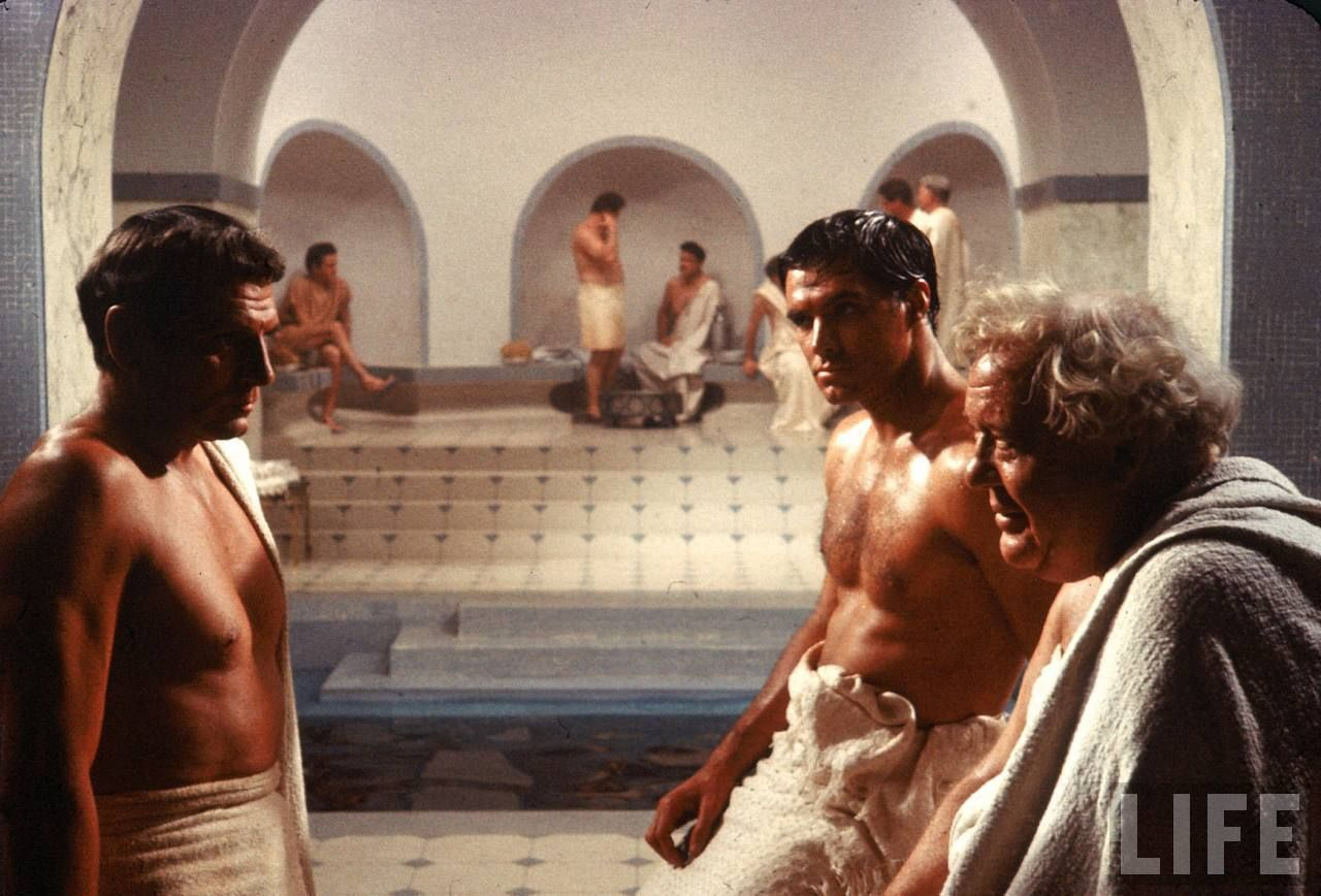 Laurence olivier spartacus quotes - Laurence Olivier As Crassus John Gavin As Julius Caesar And Charles Laughton As Gracchus In