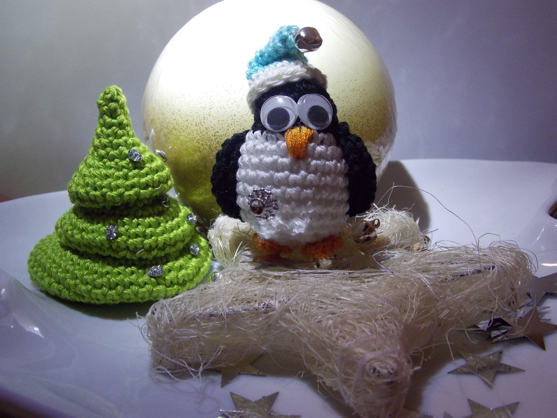 Häkeln Weihnachtlicher Pinguin Anleitung Spielzeug Pinterest