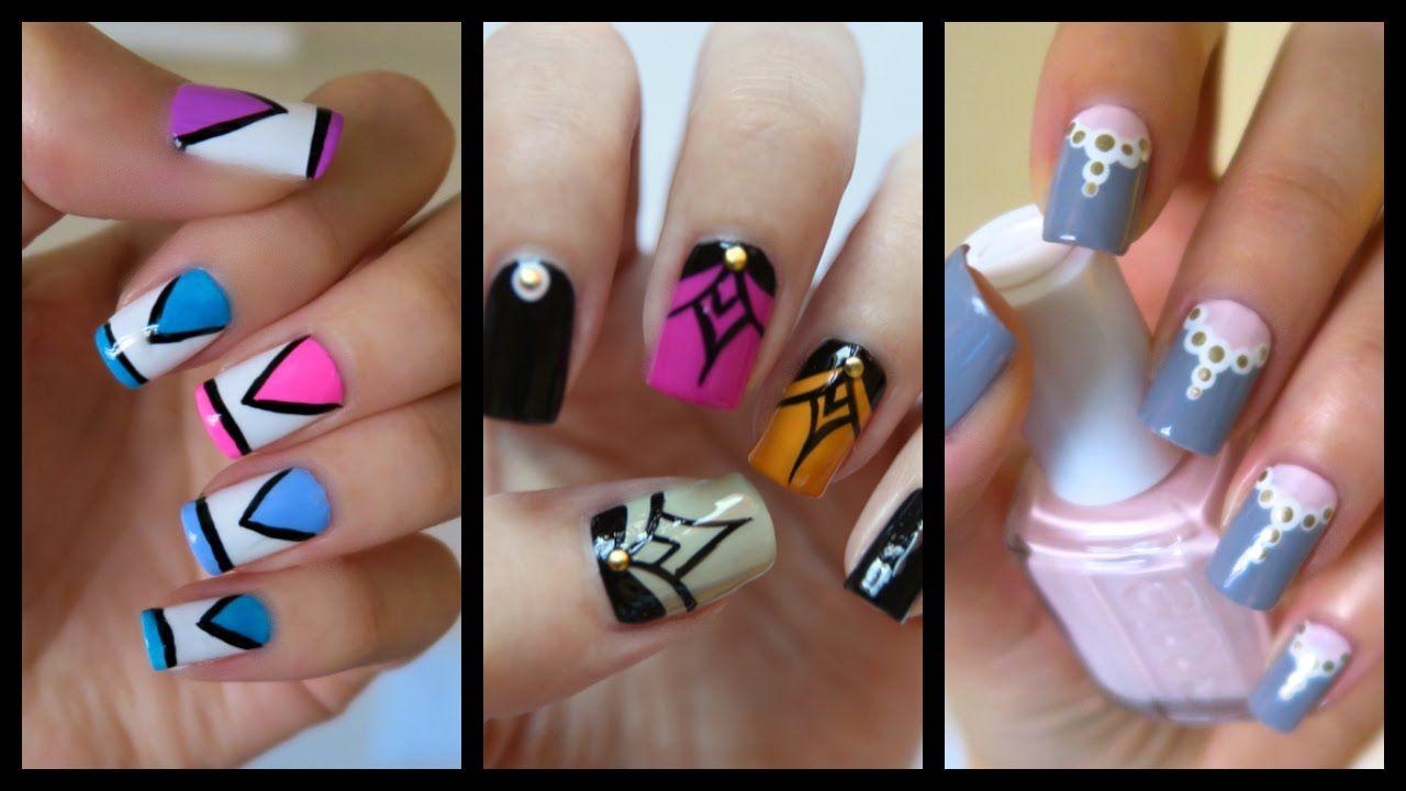 Easy Nail Art For Beginners!!! #17 | MissJenFABULOUS | Make me ...