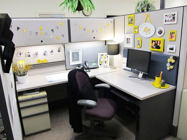 Pin By Jennifer Czaplewski On Business As Usual Cubicle Design Cubicle Decor Office Office Desk Decor
