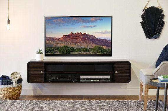 arrondi flottant courbe meuble tv