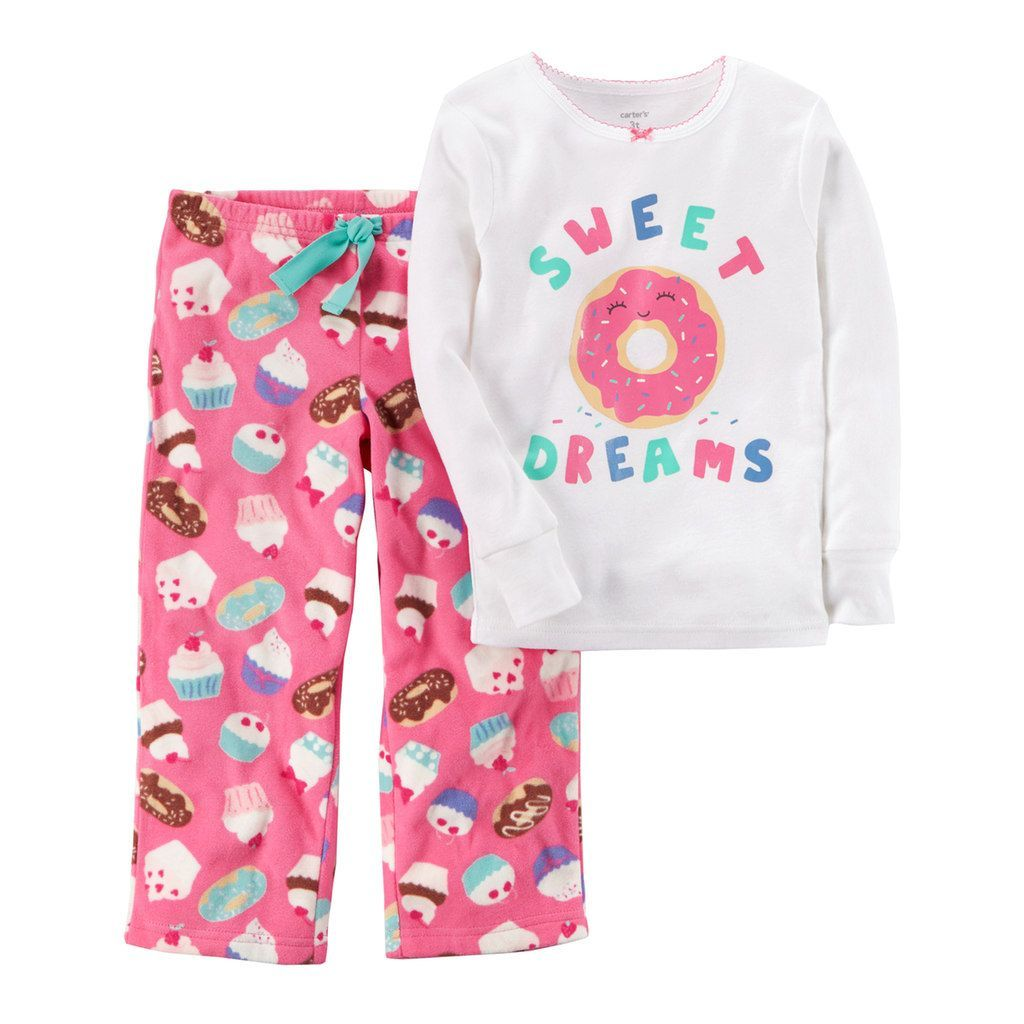 07d3a21cb Toddler Girl Carter s Embroidered Applique Top   Microfleece Bottoms ...