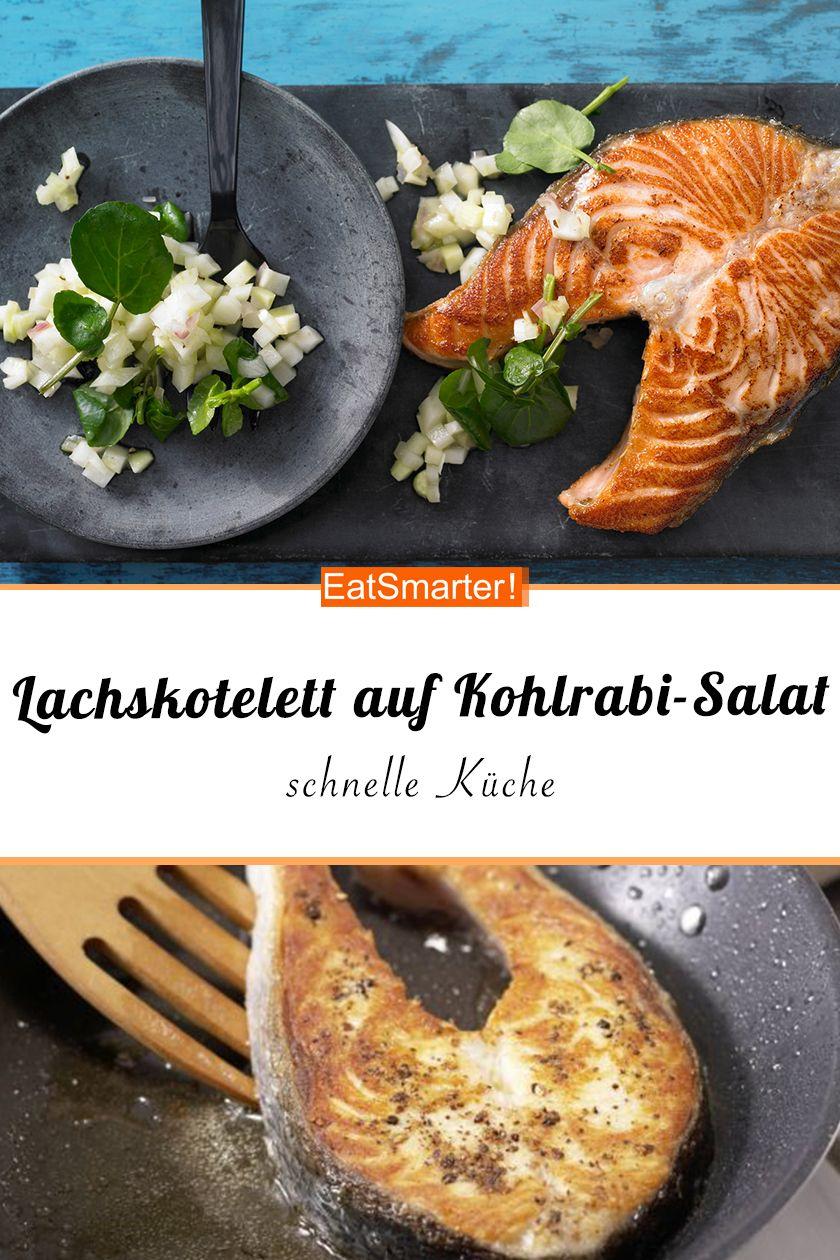 Lachskotelett auf Kohlrabi-Salat | Rezept in 2019 | Schnelle Küche ...