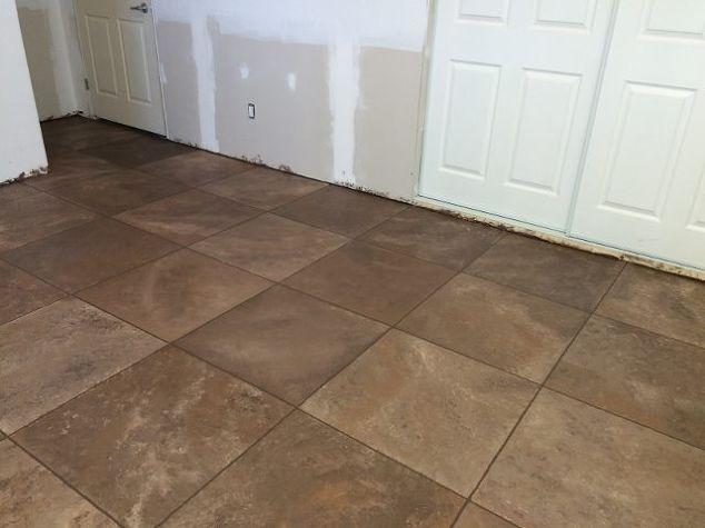 Faux Ceramic Tiles Flooring Tiling Tile Floor Diy Diy Flooring Painted Shower Tile