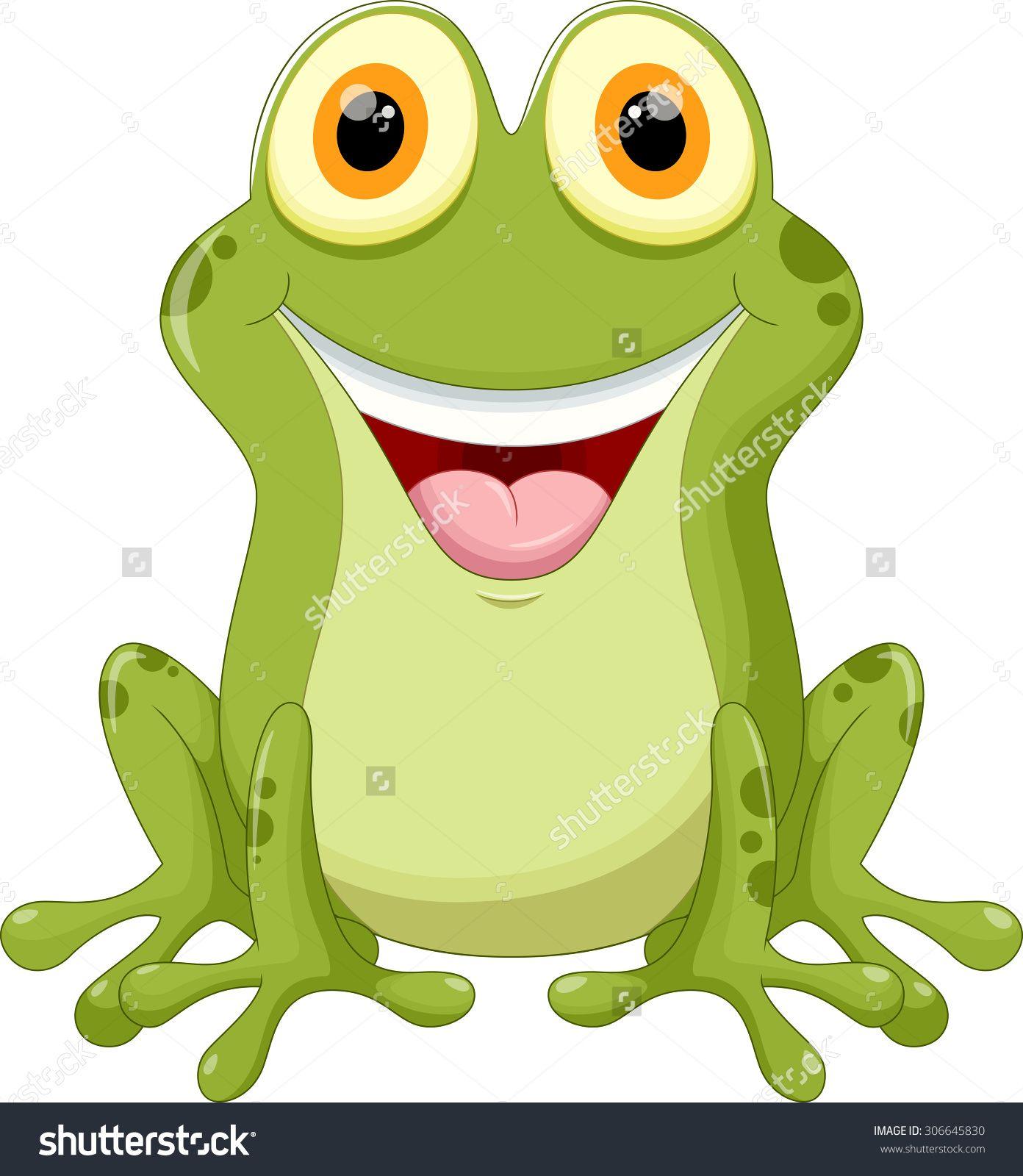 Cute Frog Cartoon Stokovaya Vektornaya Illyustraciya 306645830 Shutterstock Cute Frogs Funny Frog Pictures Cartoon Animals