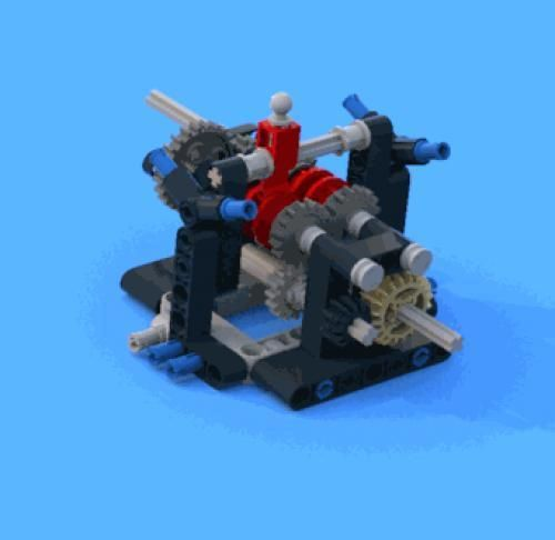 LEGO Set MOC-3507 4 speed sequntial gearbox - building instructions ...