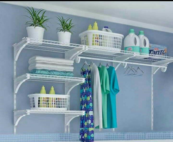 Organização na lavanderia