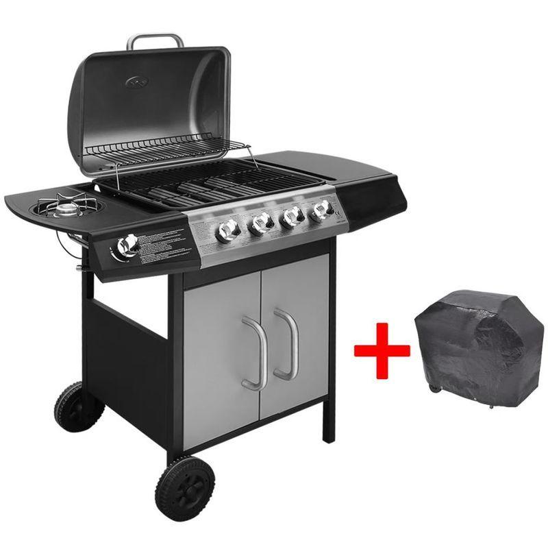 Vidaxl Gas Barbecue Grill 4 1 Cooking Zone Outdoor Garden Bbq