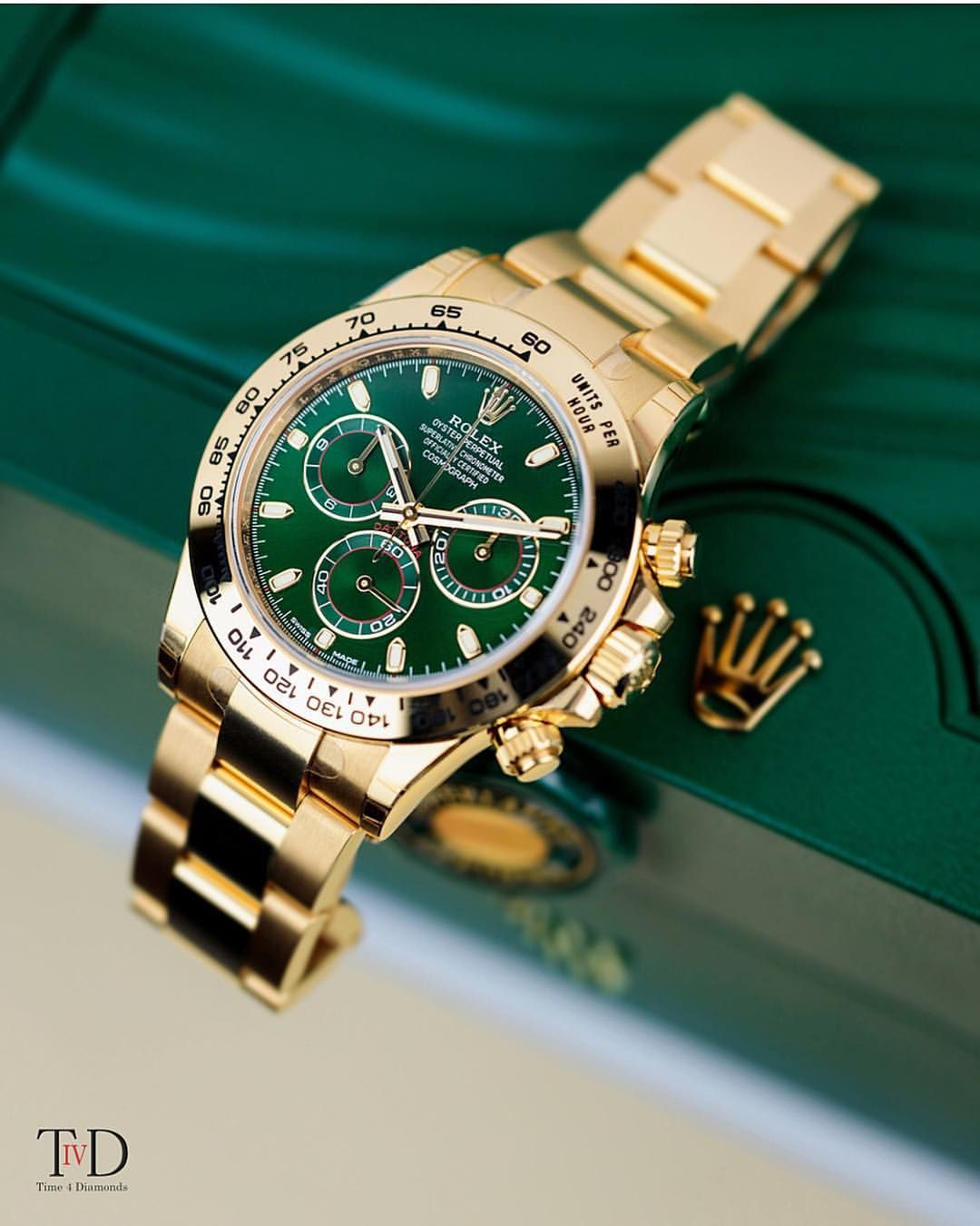 9b8e6c495599 Green dial Rolex Daytona  DailyWatch Photo by  time4diamonds Relojes Rolex