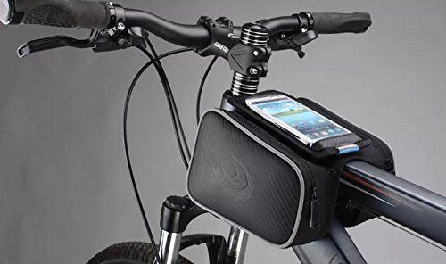 Bicycle Frame Pannier and Front Tube Cell Phone Bag HTC Iphone 4 4s bike holder