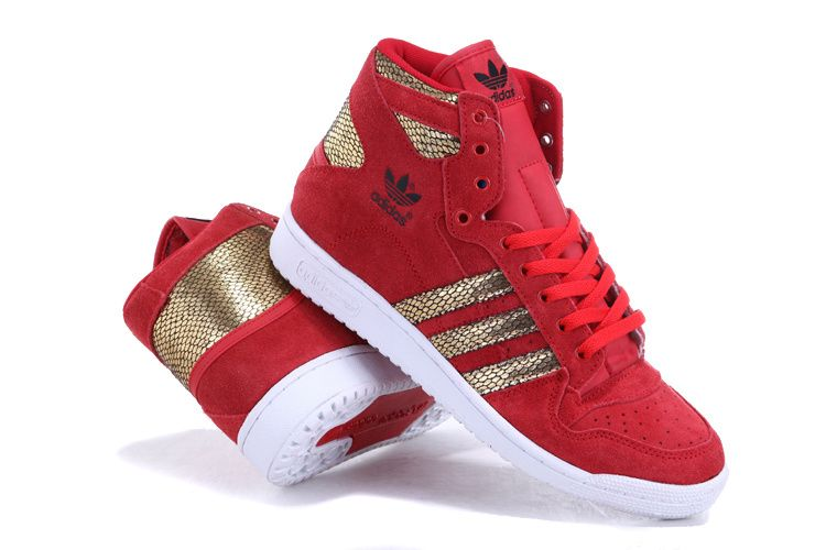 Adidas Shoes High Tops For Girls Red