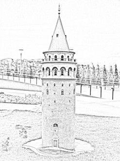 Galata Kulesi Boyama Sayfası Gazetesujin