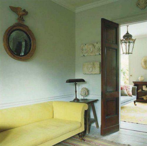 Mirror World Of Interior Yellow Sofa In World Of Interiors