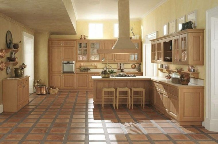 Muebles de cocina de madera color beige muebles cocina for Muebles beige