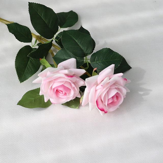 Fake Rose Flower Wedding Silk Flower Decoration Roses Artificial Flower For Farmhouse Wedding Home Decoration Lilac Wedding Flowers Silk Flowers Rose Flower