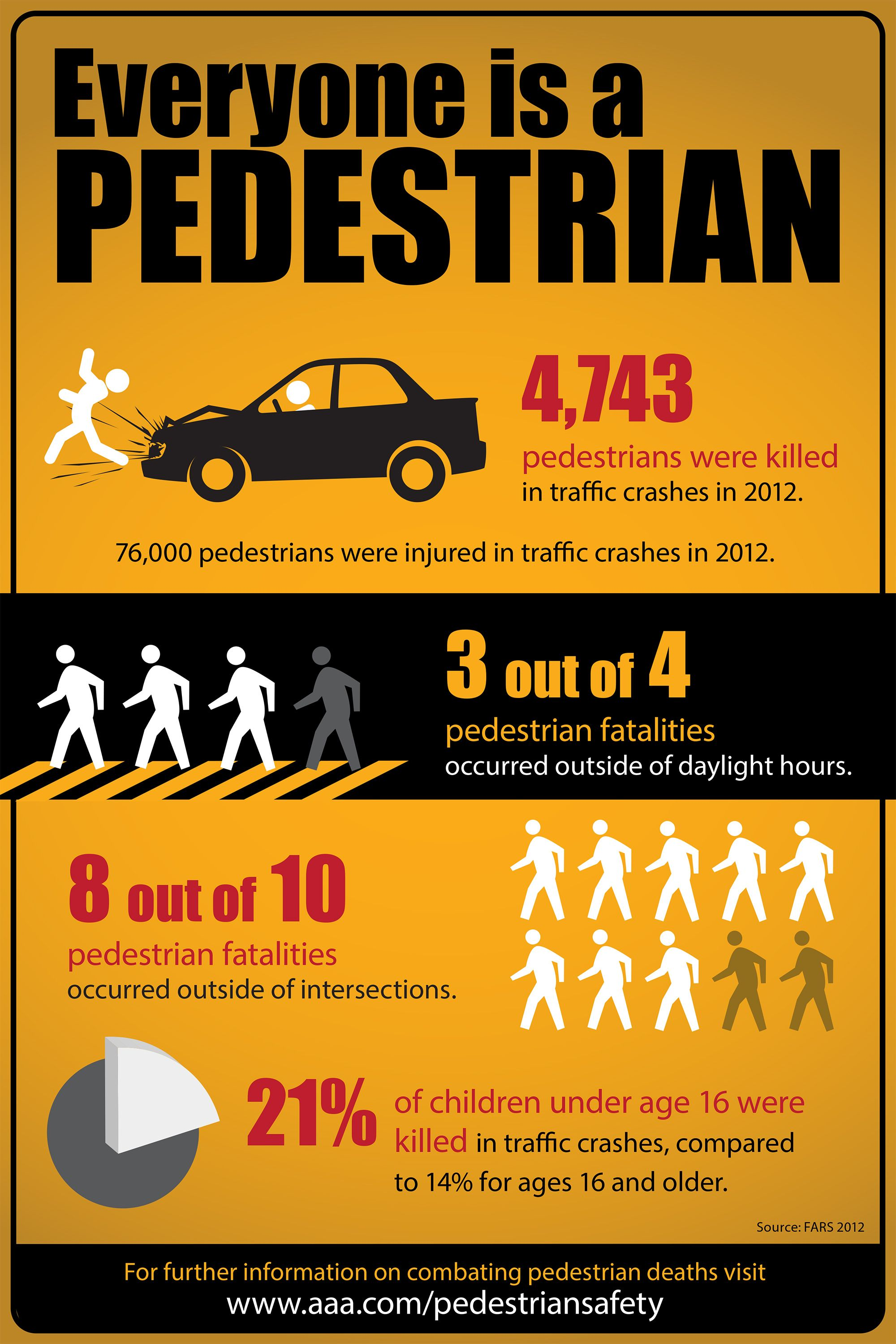 Pedestrian Safety On The Road Infographic