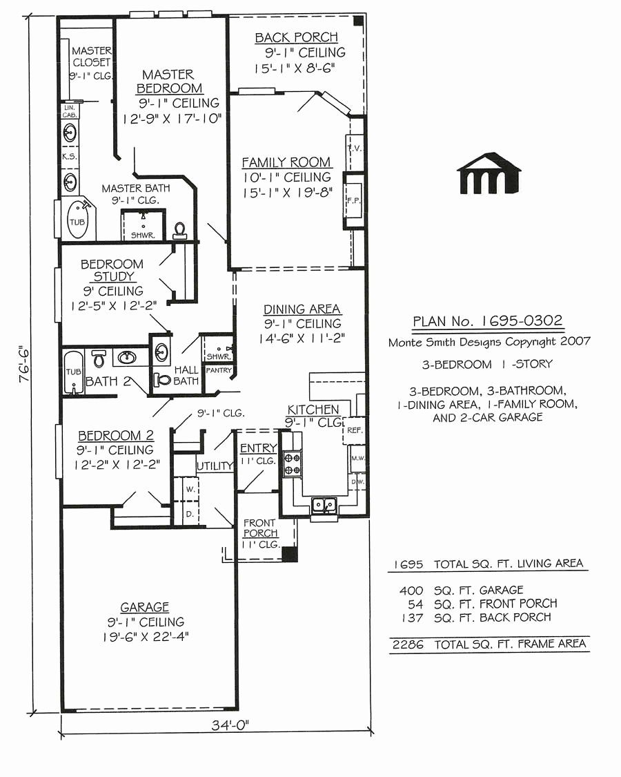 3 Stories House Plans Fresh 1695 0302 Square Feet Narrow Lot House Plan Narrow House Plans House Plans One Story Narrow Lot House Plans