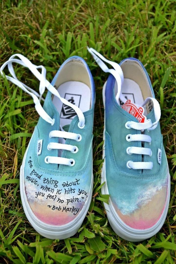 diy white shoes design