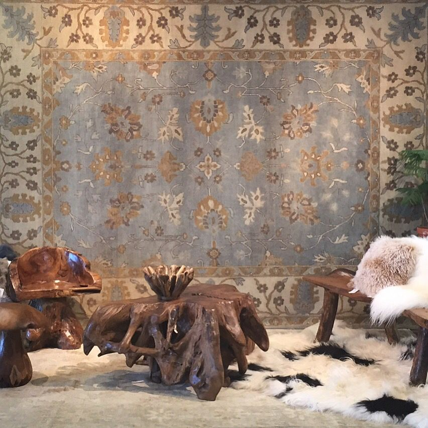 A look at our showroom! We offer a great variety of rugs! #handmaderugs
