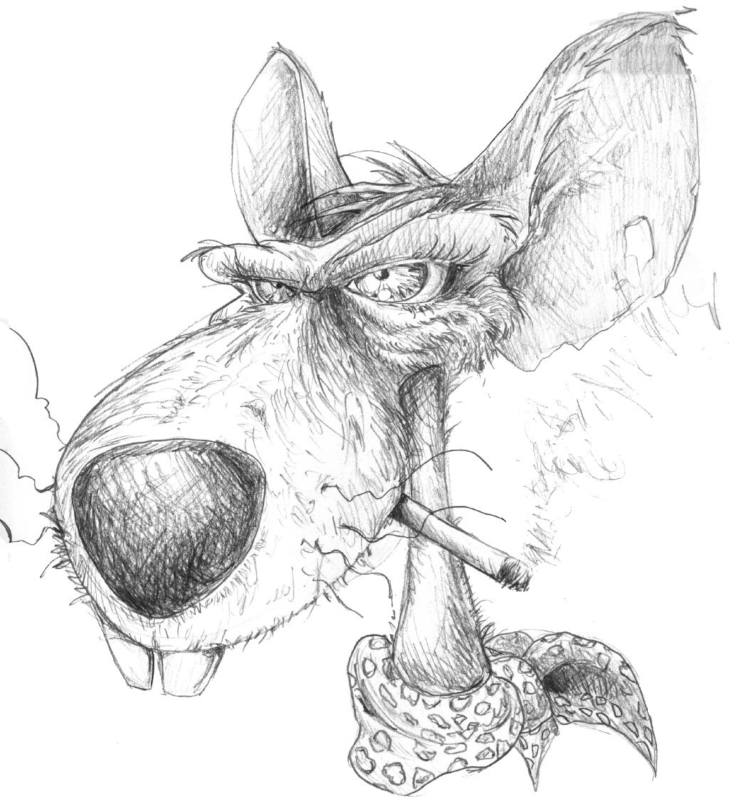 tatouage humour rigolo rat