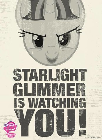 Starlight Glimmer poster MLP Facebook page.