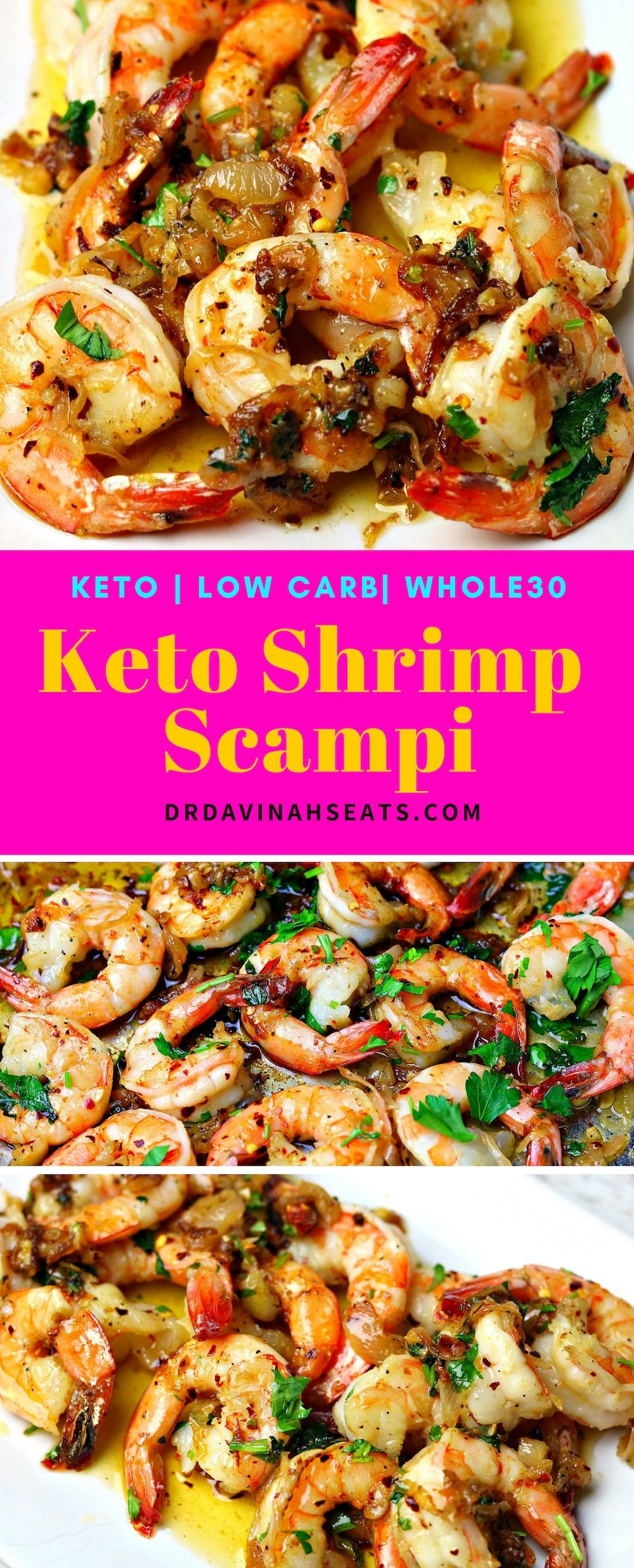 Easy Keto Garlic Shrimp Scampi Recipe #shrimpscampi