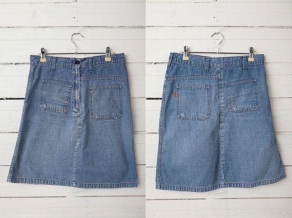 1980's Short Vintage Denim Pencil Skirt by Levi's by CoverVintage, $28.00