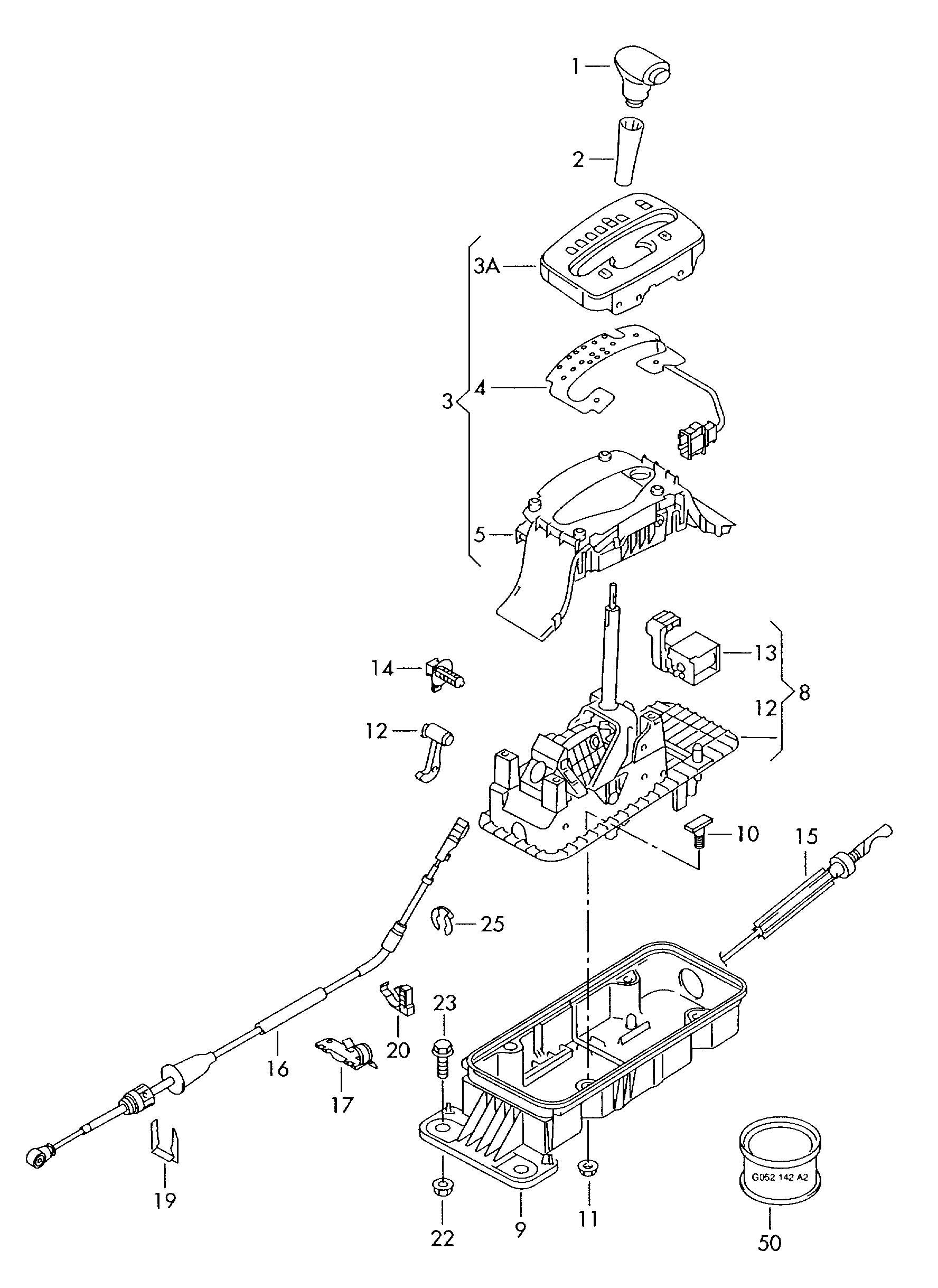 Shift Mechanism For Vehicles With Tiptronic 5 Speed