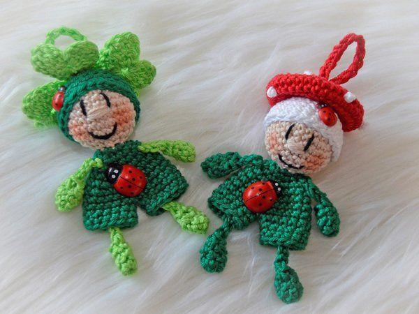 Glücksklee Schlüsselanhänger Kleeblatt Taschenbaumler Glücksbringer #bonecas