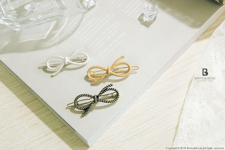 Bonny & Read 平價飾品 - 甜漾蝴蝶結髮夾 / 3色  NT.100
