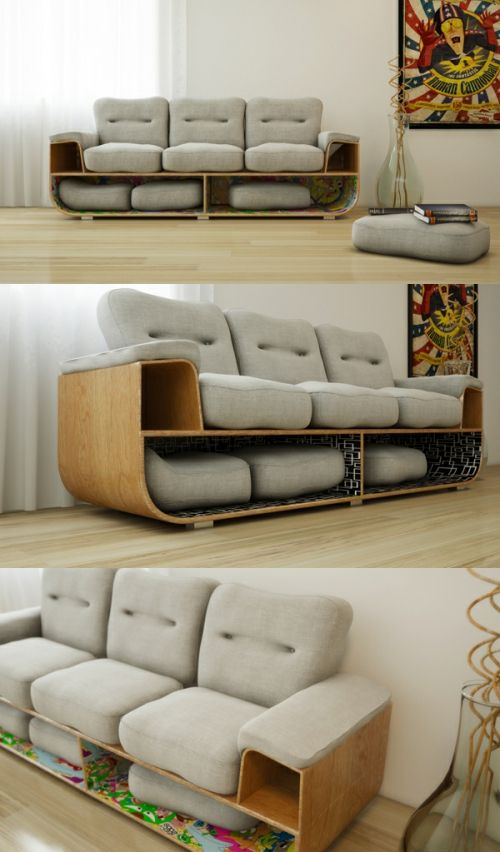 带收纳功能的沙发 Brazilian Designer To Design A Sofa With Storage