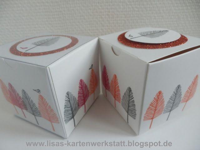 Lisas Kartenwerkstatt: Geschenkschachtel mit Bäumchen