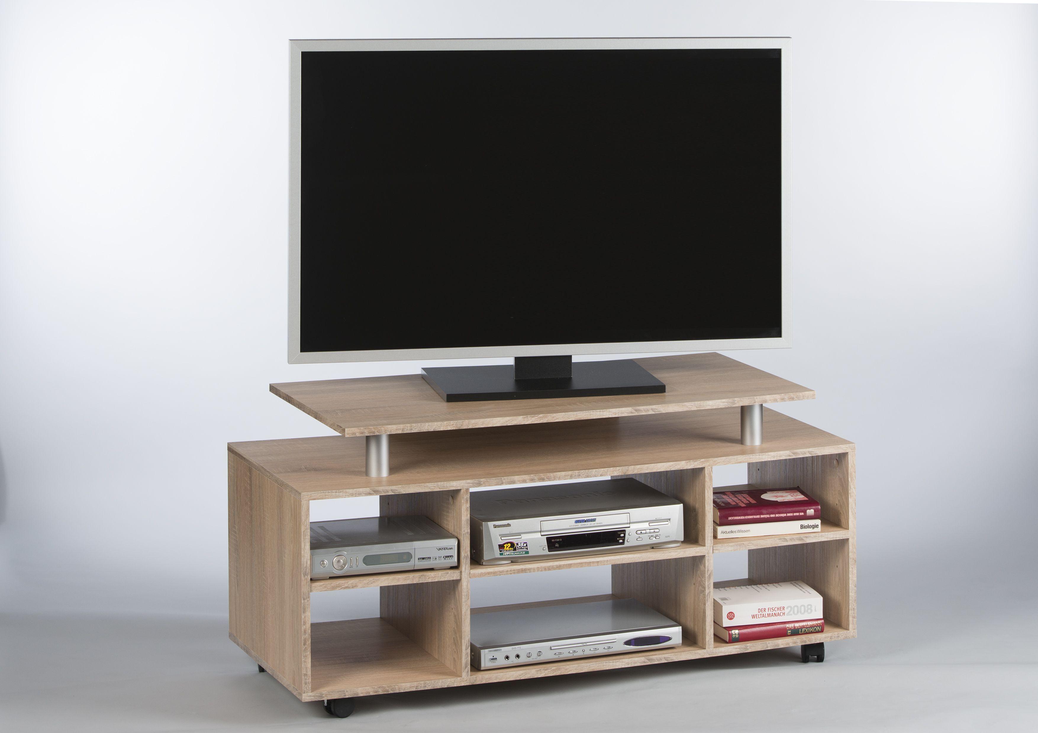 Tv möbel holz modern  Tv-unterteil In Sonoma Woody 178-00083 Sonoma-Eiche Holz Modern ...