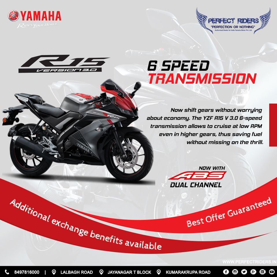 Yamaha R15v3 Available At Perfect Riders With Exciting Exchange