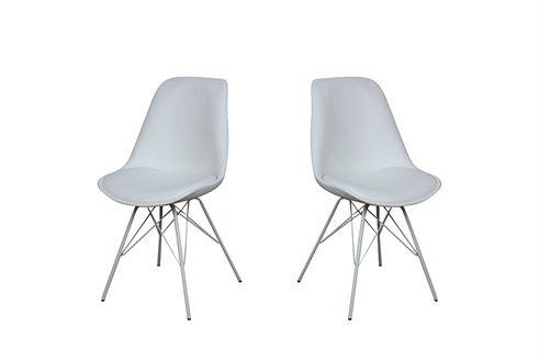 2 chaises Oslo Blanc Deco Salle à manger Pinterest