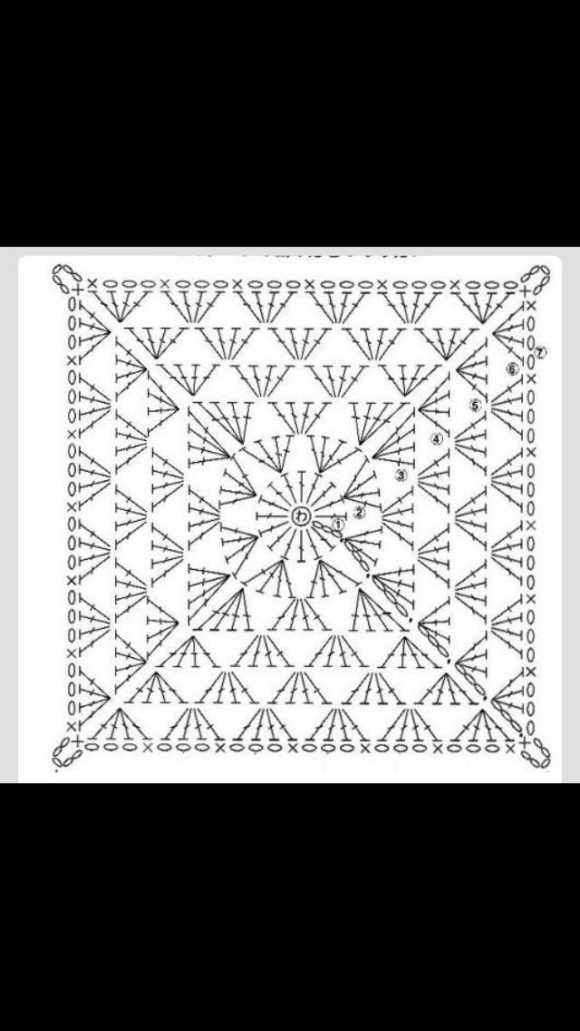 Crochet | Patrones | Pinterest | Cuadrados, Ganchillo y Tejido