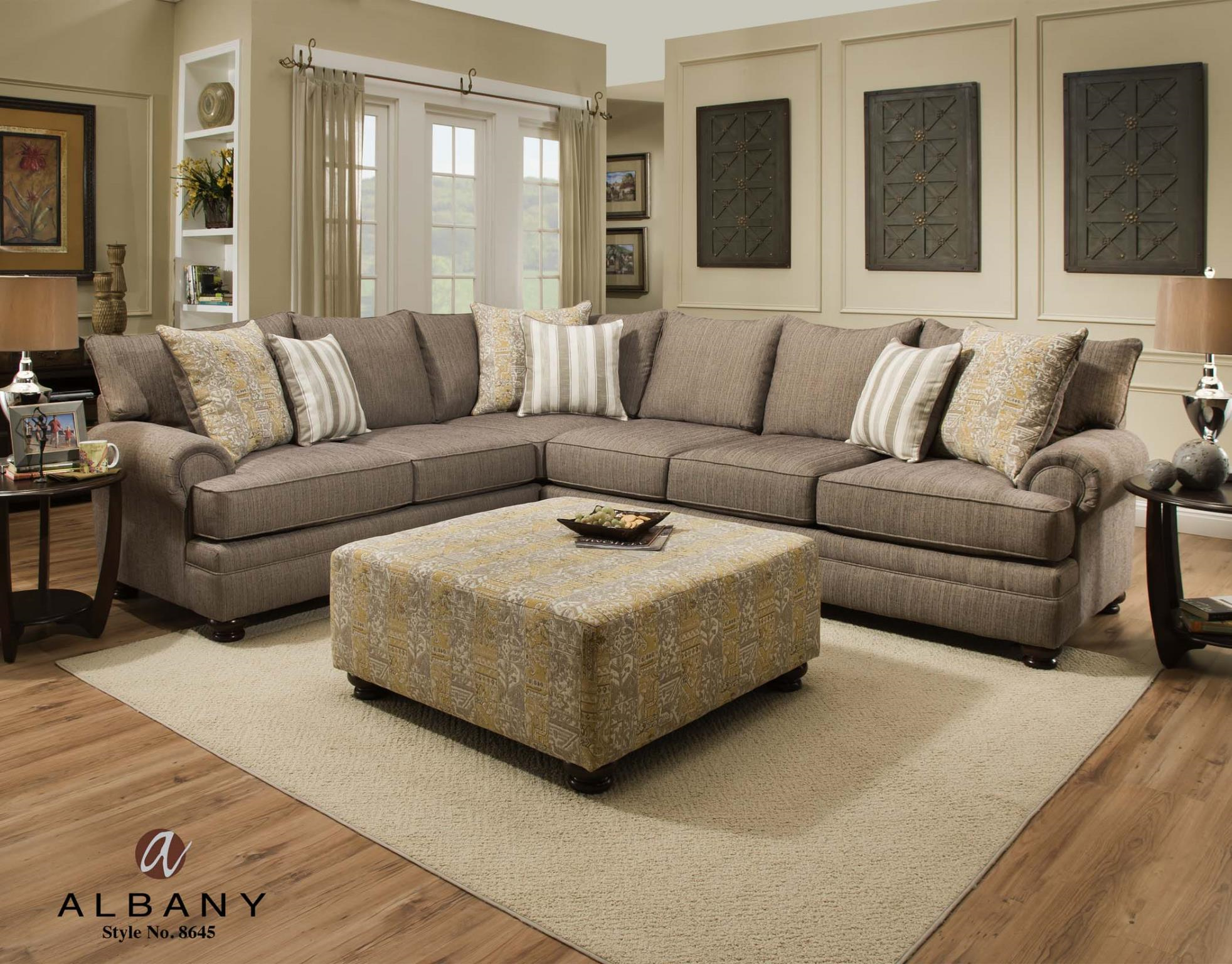 8645 Albany Furniture Essence Pewter Sectional Furniture