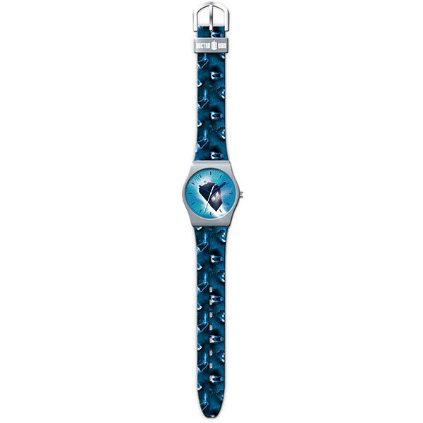 Doctor Who Doctor Who Lenticular Quartz Watch (23 CAD) ❤ liked on Polyvore featuring jewelry, watches, quartz wrist watch, quartz jewelry and quartz watches